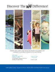 Discover The Difference! - Almaden Valley Athletic Club