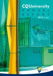 CQUniversity Annual Report - Central Queensland University