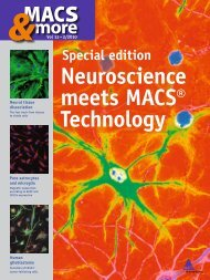 Neuroscience meets MACS® Technology - IMSB Institute of ...