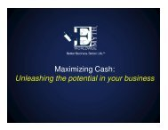 Maximizing Cash: Unleashing the potential in your business
