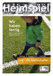 Heimspielheft Gerolzhofen - SV Erlenbach 1919 eV