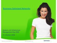Business Optimized Networks - usp MarCom
