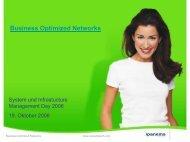 Business Optimized Networks - usp MarCom