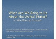 What Are We Going to Do About the United States?