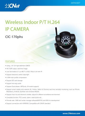 CIC-170phs Datasheets - CNet