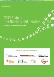 2012 State of The Not-for-profit Industry