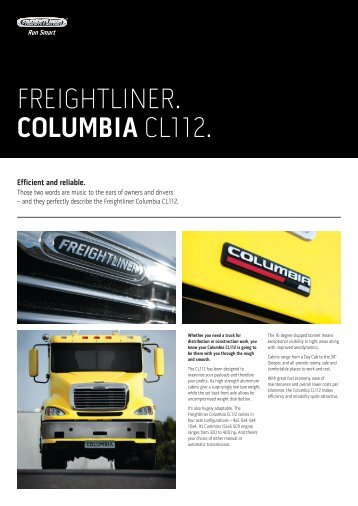 FREIGHTLINER. COLUMBIA CL112. - Ahg
