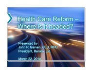 Health care reform (March 22, 2010) - Benico, Ltd.