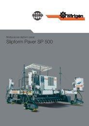 Slipform Paver SP 500 - Wirtgen GmbH