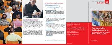 Einstiegsgehälter für Absolventen 2013