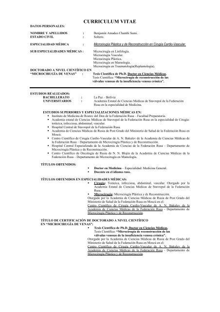 Curriculum Vitae Indymedia Argentina