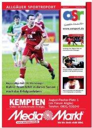 ASR Sport Ausgabe September 2011 - Allgäu Sport Report