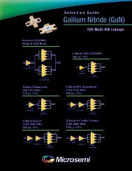 Microsemi Gallium Nitride (GaN) - Richardson RFPD