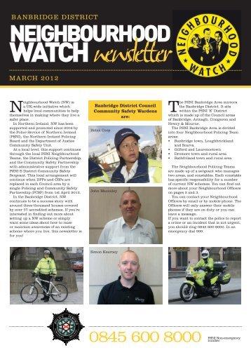 Neighbourhood Watch Newsletter - Police Service of Northern Ireland