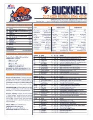 bucknell 2012 bison football game notes - Community - CBS Sports ...