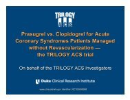 the TRILOGY ACS trial