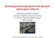 Simulating many-body physics with quantum phase-space methods