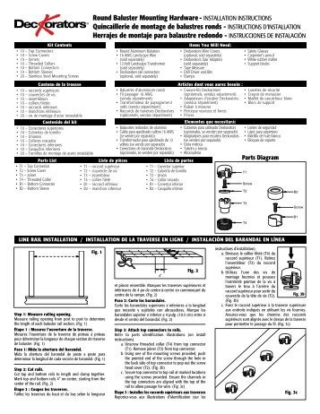 Deckorators Baluster Mounting Hardware Installation Instructions ...
