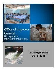 Strategic Plan - US Agency For International Development - Office of ...