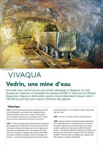 Vedrin, une mine d'eau - Vivaqua