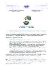 POLLUTEC Horizons 2011 29 novembre – 2 décembre Rendez ...