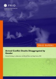 Armed Conflict Deaths Disaggregated by Gender - PRIO