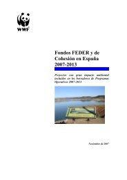Fondos FEDER y de Cohesión en España 2007-2013 - WWF