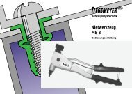 Nietwerkzeug MS 3 - Titgemeyer