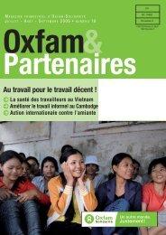 Oxfam&Partenaires 16 - Au travail pour le travail décent