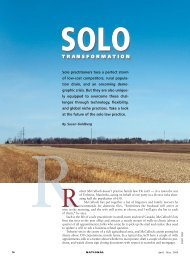 Solo Transformation - Creativity in the legal practice