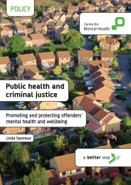 POLICY Public health and criminal justice - Centre for Mental Health