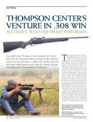Venture Weather Shield Guns Australia Jan/Mar 2013 - Frontier Arms
