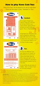 How to play Keno Coin Toss brochure - SA Lotteries - Page 2