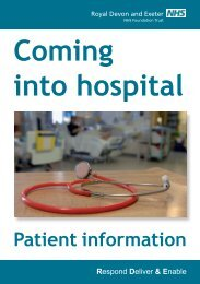 Coming – Into Hospital Patient Information - Royal Devon & Exeter ...