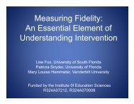 Issues Associated with Measuring the Implementation Fidelity of ...