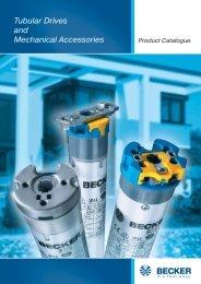 Tubular drives - Becker-Antriebe