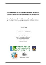 Coastal Environments of the South West Region - The University of ...