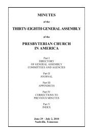 Minutes of the 38th General Assembly of the Presbyterian Church in ...