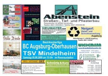 BC Augsburg-Oberhausen TSV Mindelheim - BCA Oberhausen