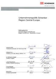 Unternehmenspolitik - Schenker Deutschland AG - DB Schenker