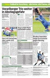 Vorarlberger Trio weiter in Abstiegsgefahr - FC Brauerei Egg