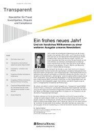 Transparent – Newsletter für Fraud, Investigation ... - Rudolf X. Ruter