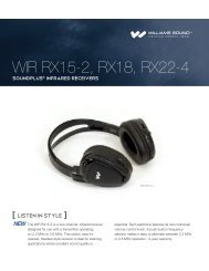 WIR RX15-2 Sell Sheet - Williams Sound