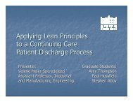 Applying Lean Principles to a Continuing Care Patient Discharge ...