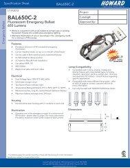 Electronic Ballast Spec Sheet