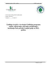 Godišnje izvješće o izvršenju Godišnjeg programa ... - Lonjsko Polje