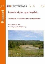 Støyrapport Leksdal skyte- og øvingsfelt.pdf - Forsvarsbygg
