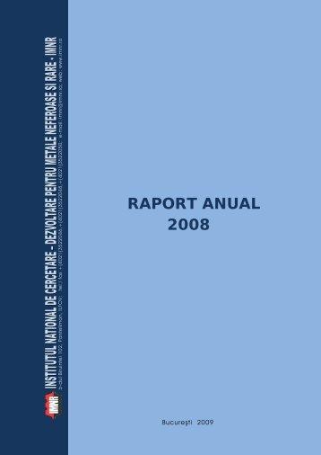 RAPORT ANUAL 2008 - IMNR