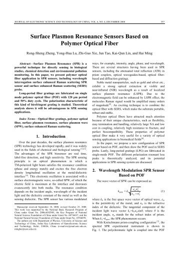 Surface Plasmon Resonance Sensors Based on Polymer Optical Fiber