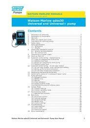 Contents Watson-Marlow qdos30 Universal and Universal+ pump